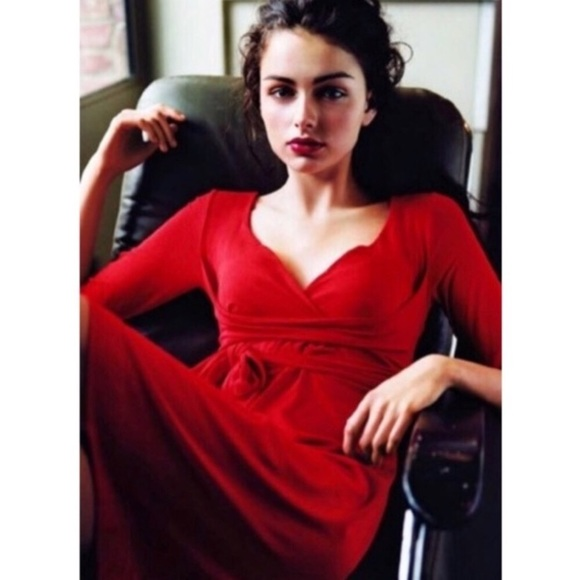 d00501072d Anthropologie Dresses | Ric Rac Red Dress With 34 Sleeves | Poshmark